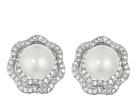 Fresh Water Pearl/CZ Rose Earrings