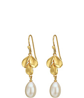 Nina - Fresh Water Pearl Leaf Earrings