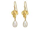 Fresh Water Pearl Leaf Earrings