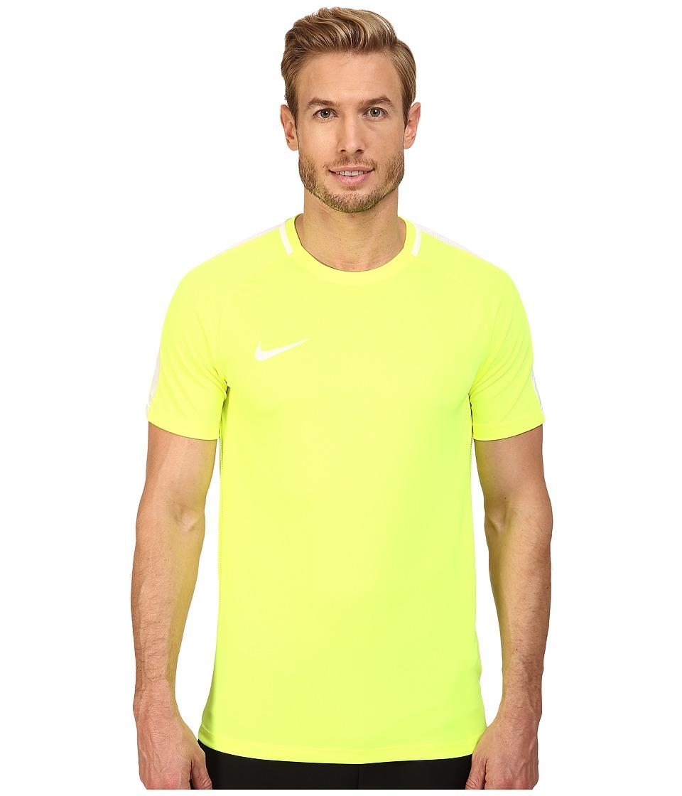 Nike Dry Academy Soccer Shirt (Volt/White/White) Men