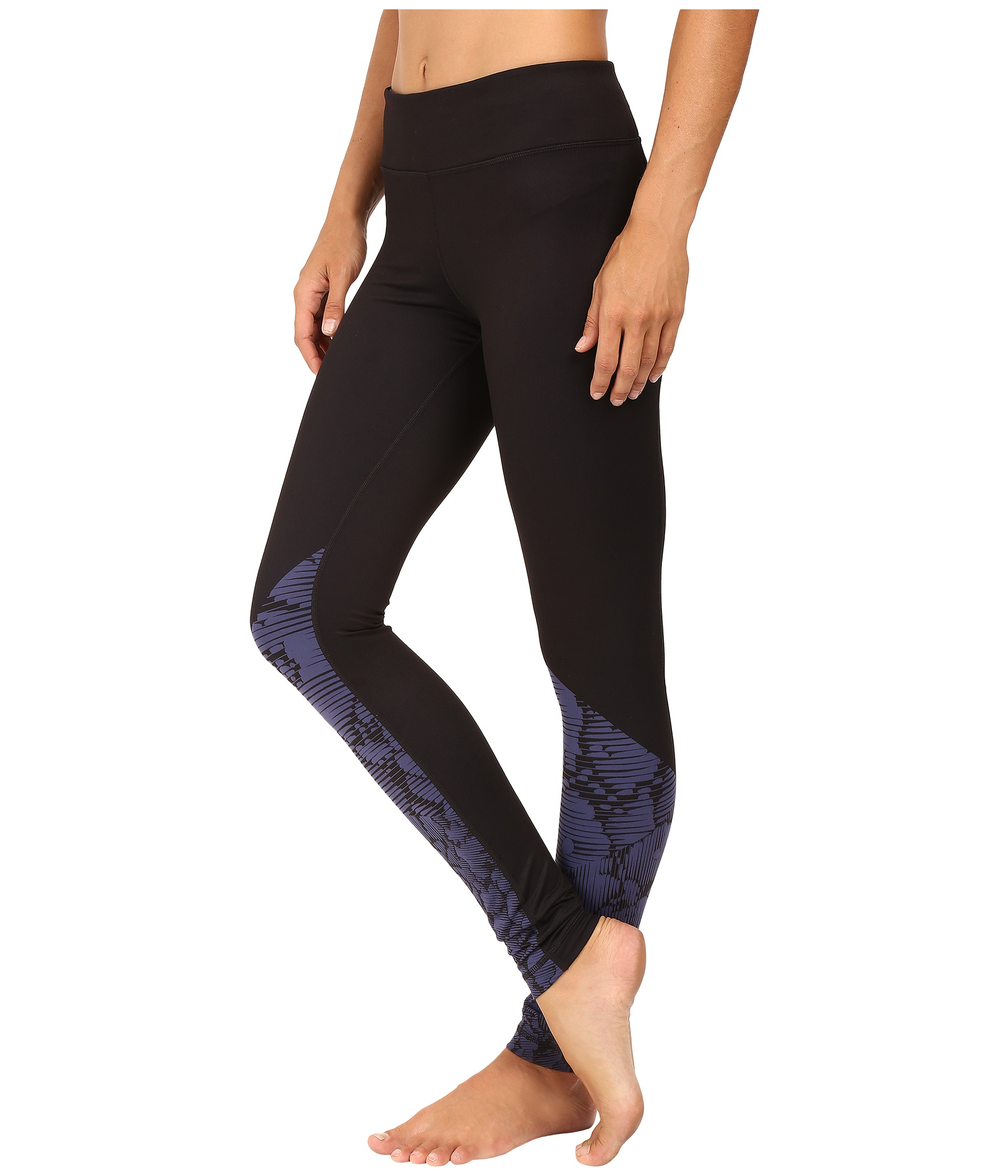 Under Armour Mirror Stripe Floral Leggings Faded Ink