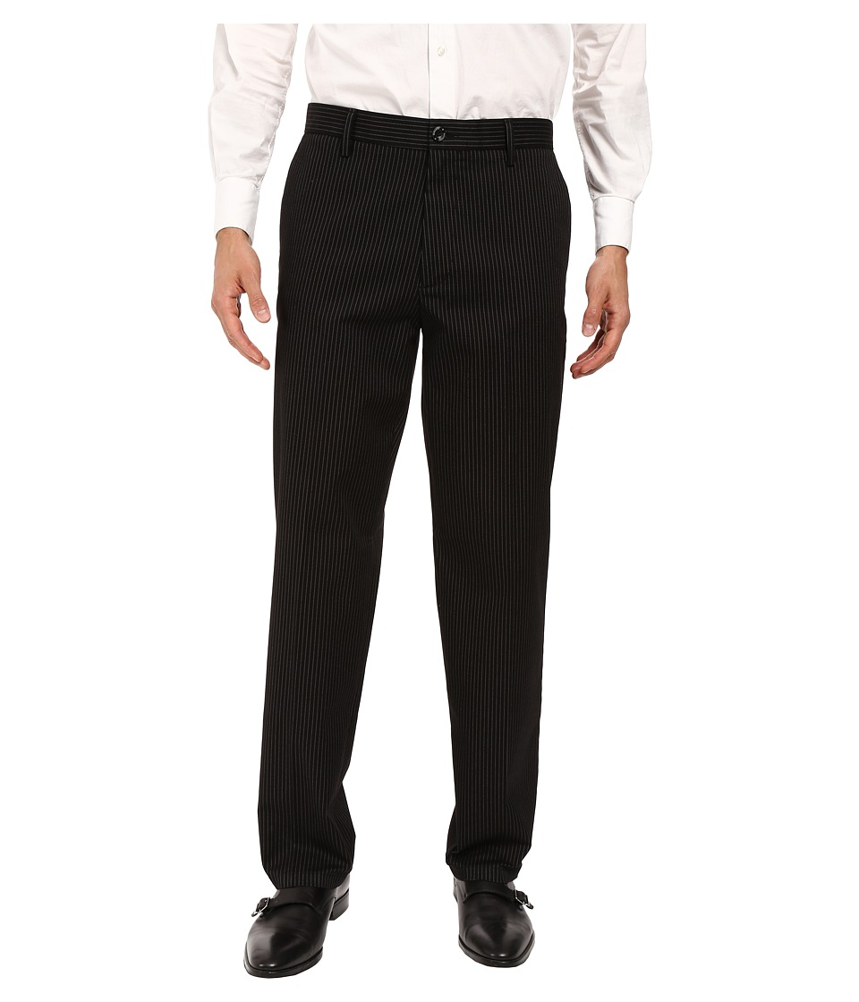 Dockers - Signature Khaki D3 Classic Fit Flat Front (Morissette Black Stripe Stretch) Mens Casual Pants