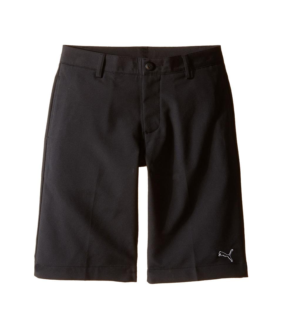 PUMA Golf Kids Tech Short Big Kids Black 1 Boys Shorts