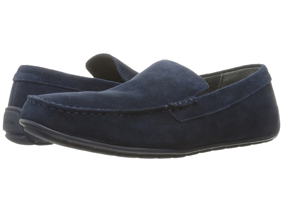 Calvin Klein - Isaac (Dark Navy Oily Suede) Men