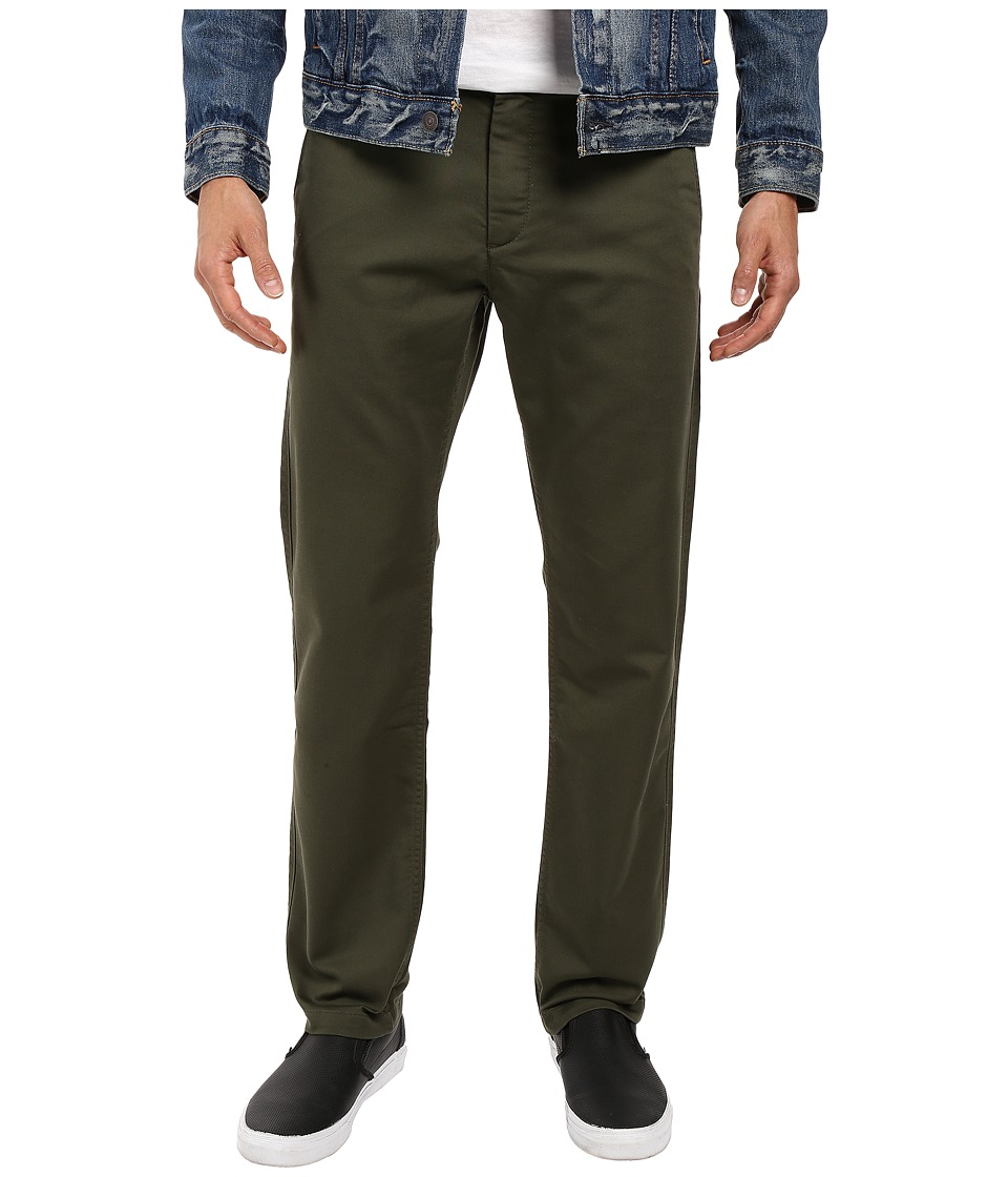 Dockers - Washed Khaki Slim Tapered (Dockers Olive 1) Mens Casual Pants