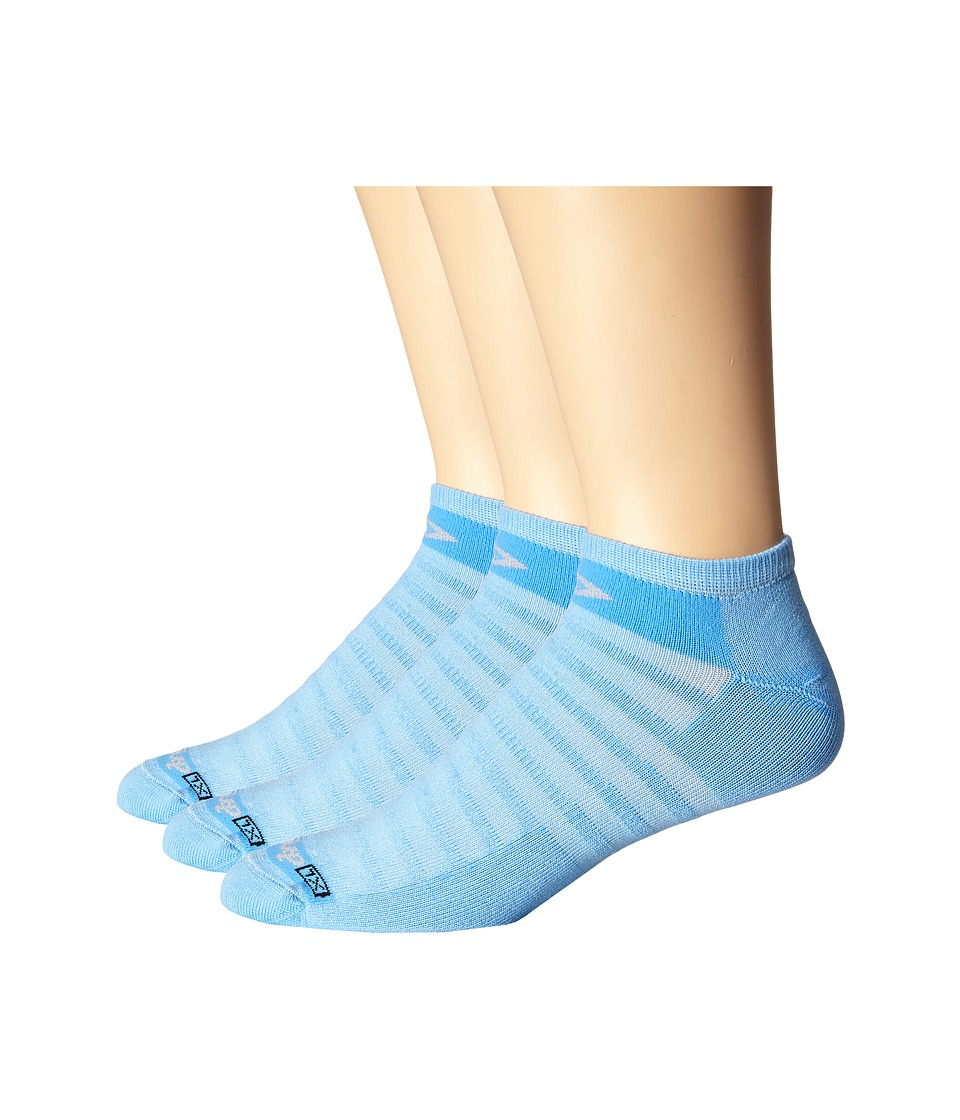 Drymax Sport Hyper Thin Running No Show 3 Pack Big Sky Blue No Show Socks Shoes