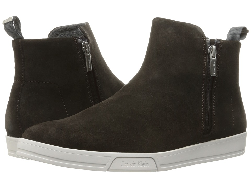 Calvin Klein - Barkley (Dark Brown Oily Suede) Men