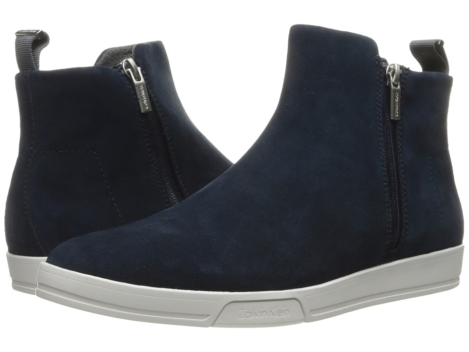 Calvin Klein - Barkley (Dark Navy Oily Suede) Men