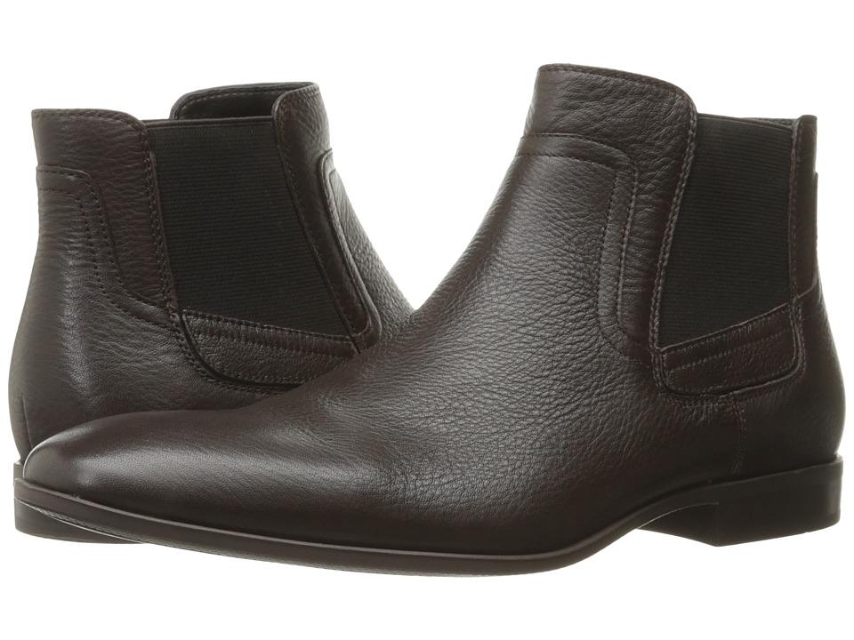 Calvin Klein - Clarke (Dark Brown Tumbled Cow Leather) Men