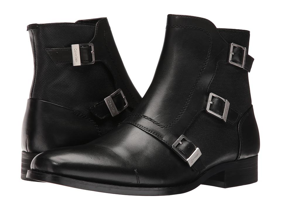 Calvin Klein - Stark (Black Calf Leather) Men