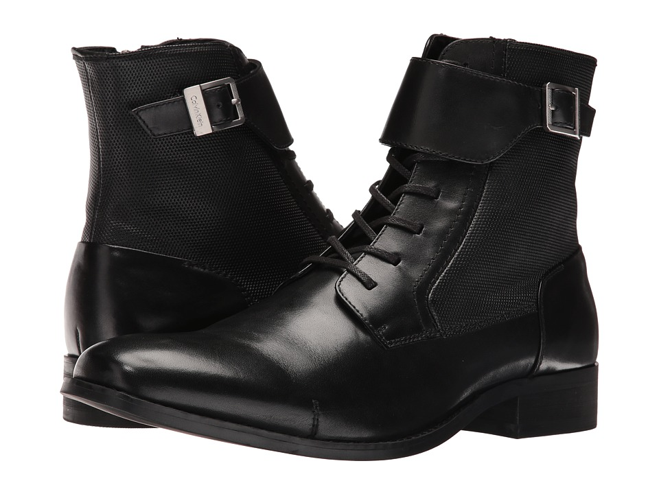 Calvin Klein - Stokely (Black Calf Leather) Men