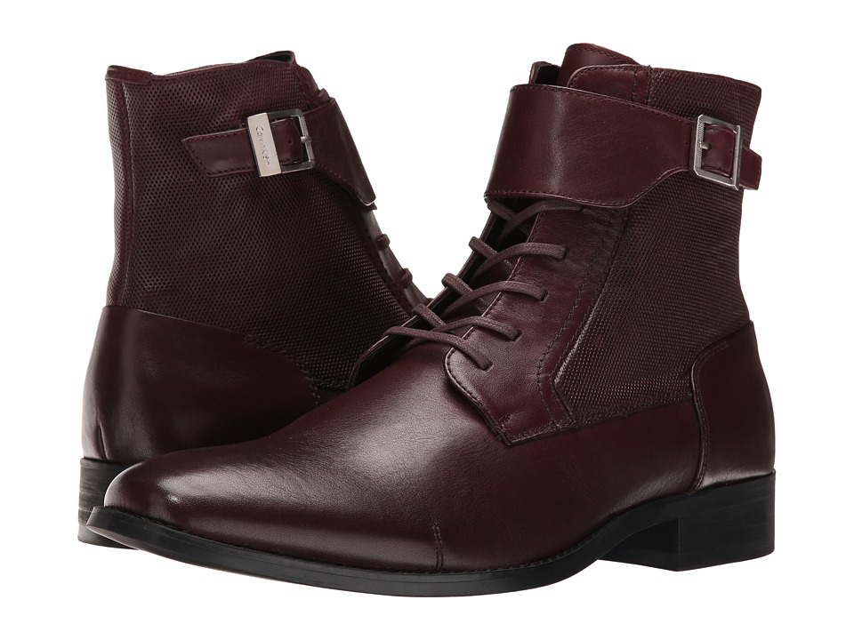 Calvin Klein - Stokely (Oxblood Calf Leather) Men