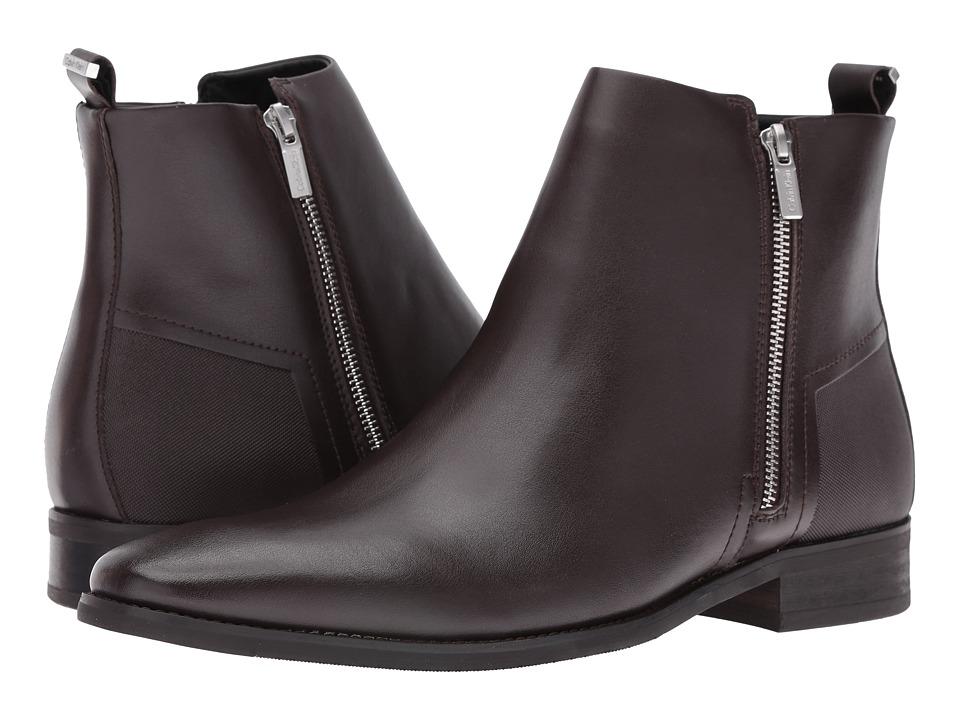 Calvin Klein - Raxton (Dark Brown Leather) Men