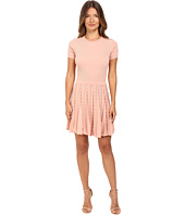 RED VALENTINO - Stretch Viscose Dress with Scallop Detail