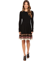 RED VALENTINO - Stretch Viscose Dress with Inuit Pleating