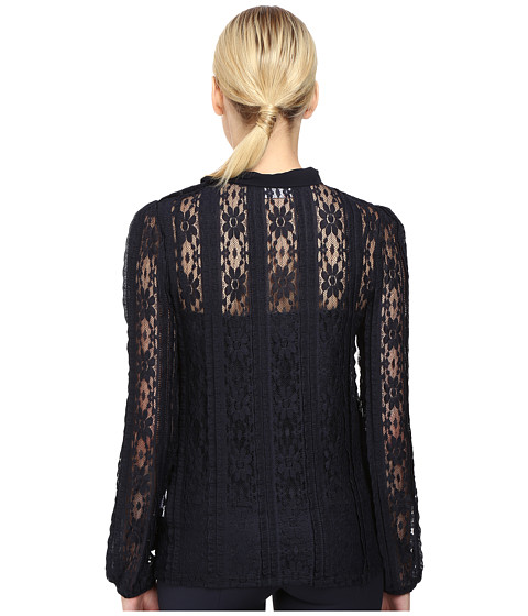 Valentino Red Tie Neck Lace Blouse 120