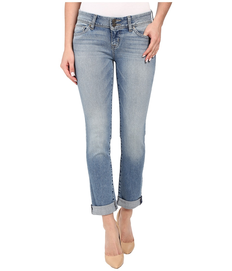 Hudson Ginny Ankle Straight with Cuff in Causeway Causeway Womens Jeans