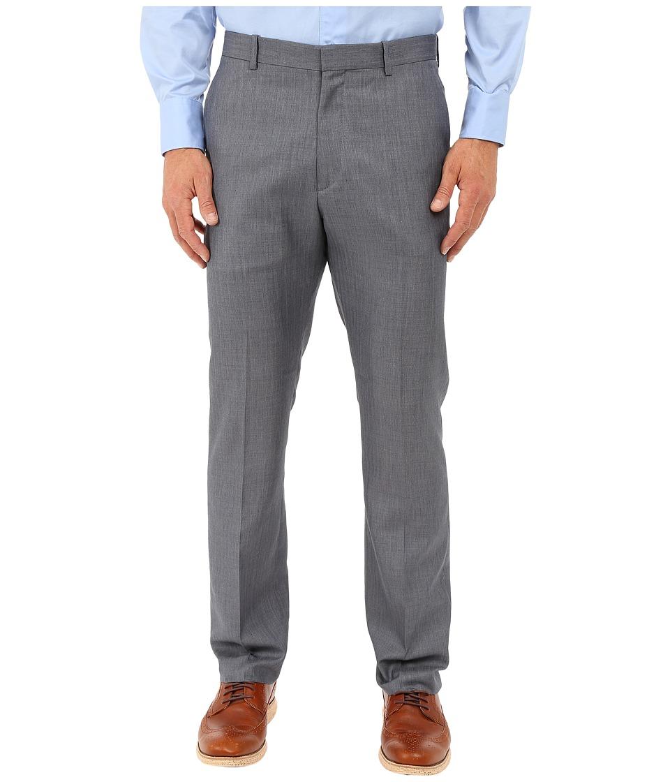 Perry Ellis Portfolio Slim Stripe Herringbone Pants Bering Sea Mens Dress Pants