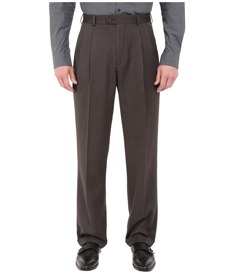 Perry Ellis Portfolio Classic Fit Double Pleat Micro Melange Pant Castlerock Mens Casual Pants