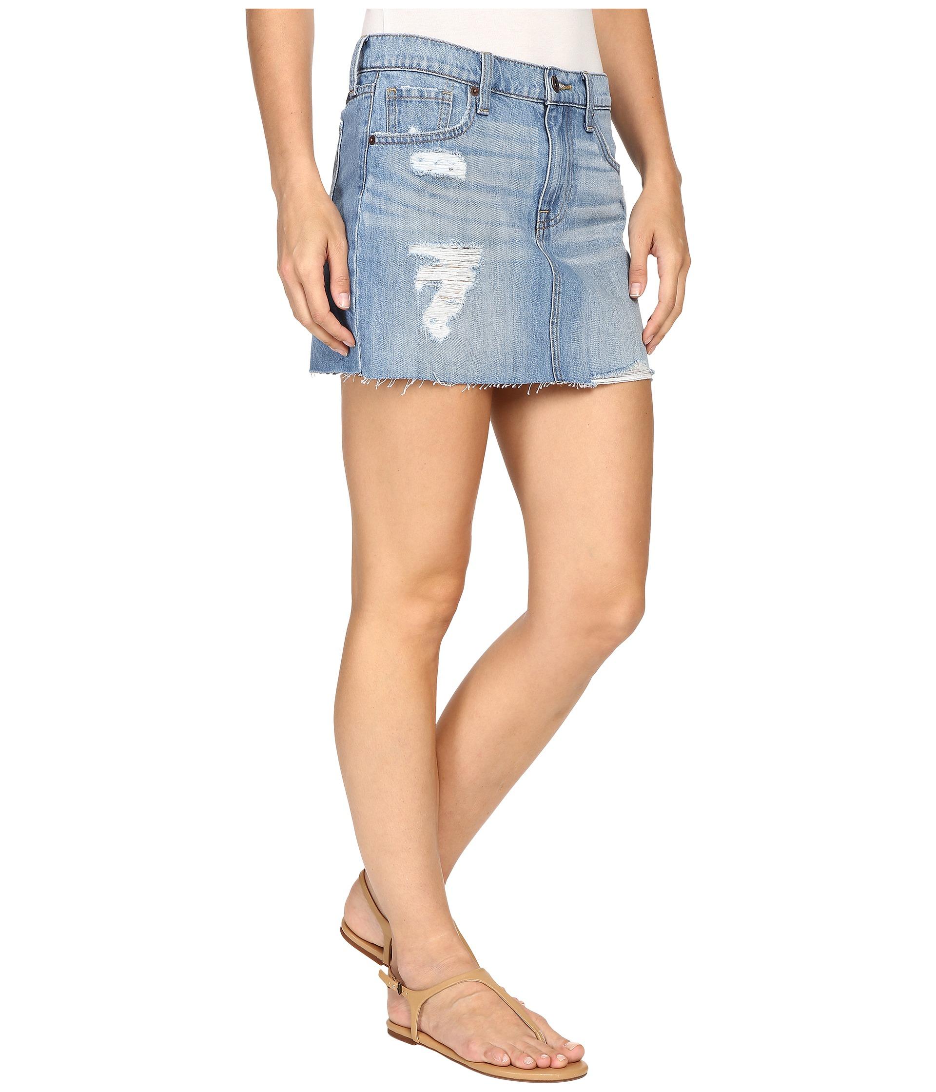 lucky brand classic denim mini skirt fort ross zappos
