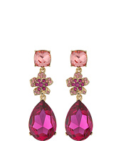 Oscar de la Renta - Flower Drop Pave P Earrings