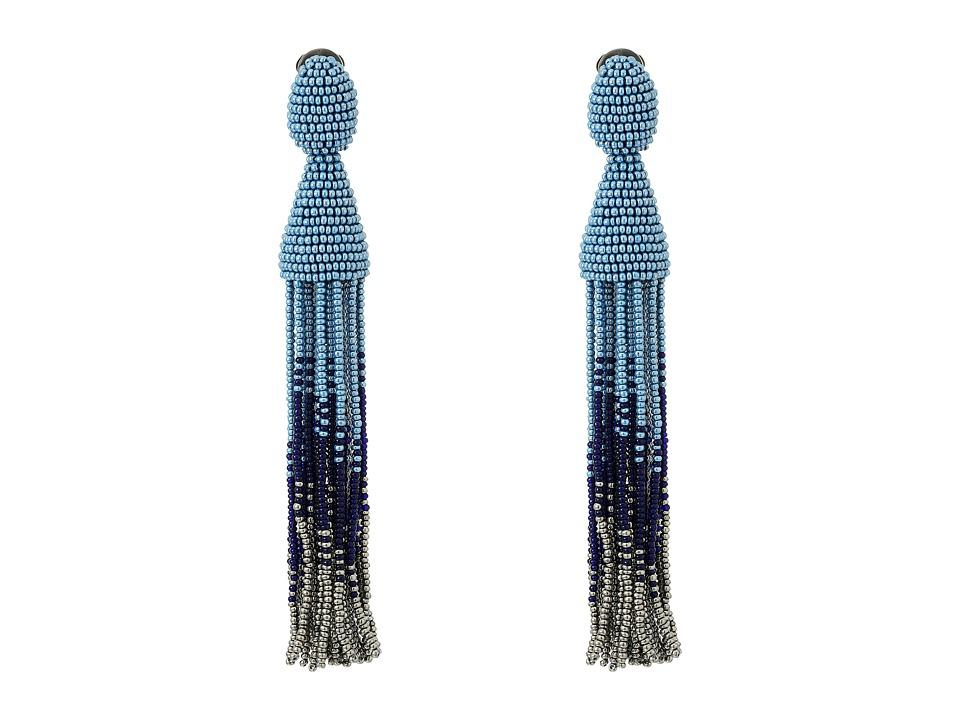 Oscar de la Renta - Long Ombre Tassel C Earrings