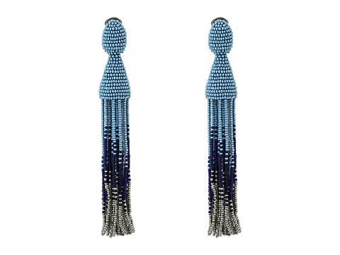 Oscar de la Renta Long Ombre Tassel C Earrings