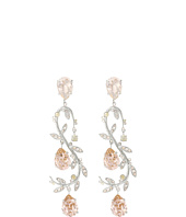 Oscar de la Renta - Crystal Leaf Swirl P Earrings