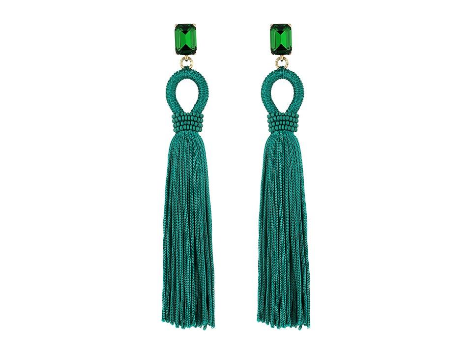 Oscar de la Renta - Long Silk Tassel C Earrings