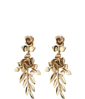 Oscar de la Renta - Rose and Leaf Vine C Earrings
