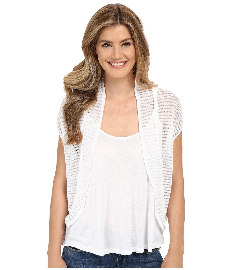 Lucky Brand Shadow Stripe Sweater Lucky White Womens Sweater
