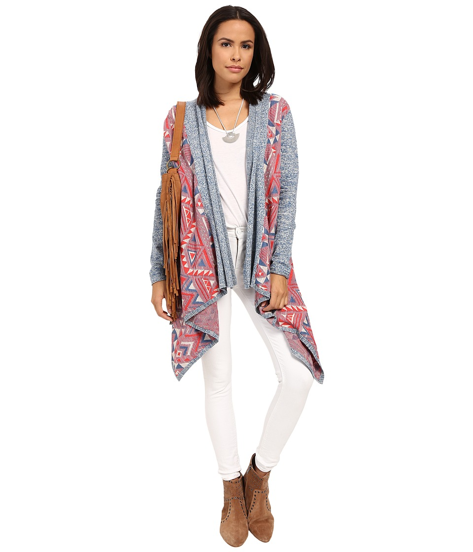 Lucky Brand Multicolor 3rd Piece Top Multi Womens Sweater