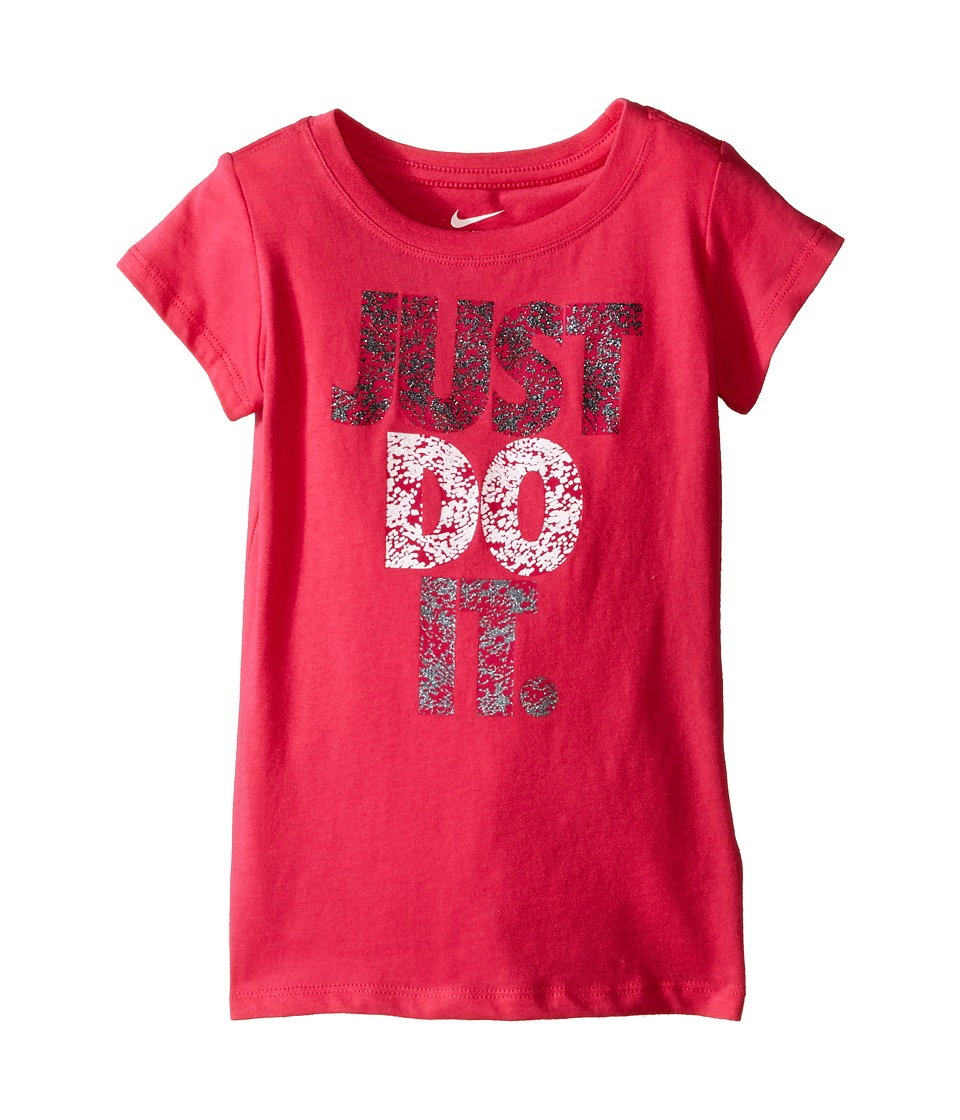 Nike Kids A879 Just Do It Short Sleeve Tee Toddler Dark Hyper Pink Girls T Shirt