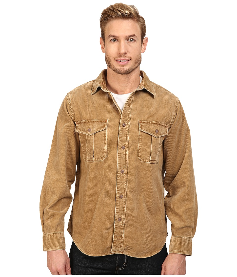 1950s Style Mens Shirts Woolrich - Hemlock Cord Shirt Regular Fit Chicory 1 Mens Clothing $55.99 AT vintagedancer.com