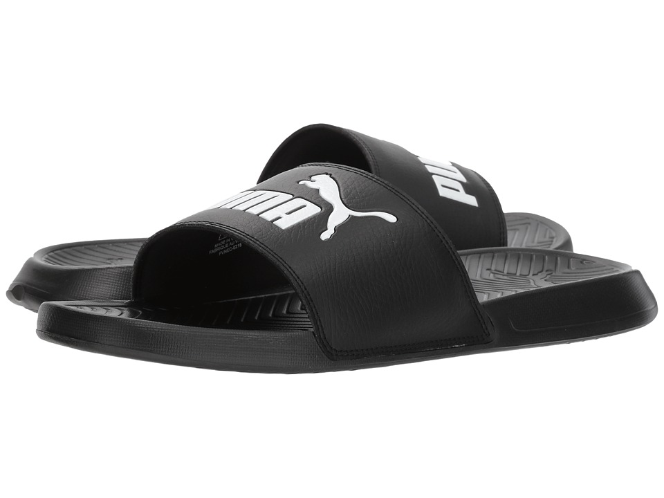 PUMA - Popcat (Black/Black/White) Mens Sandals