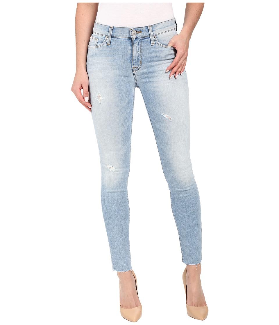 Hudson Nico Mid Rise Ankle Raw Hem Super Skinny in Hatchback Hatchback Womens Jeans