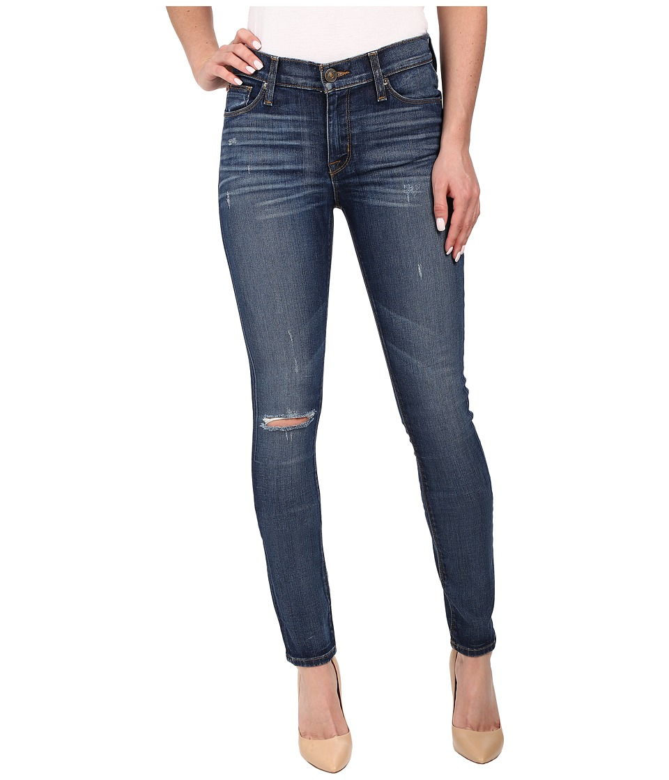 Hudson Shine Mid Rise Skinny in Offshore Offshore Womens Jeans