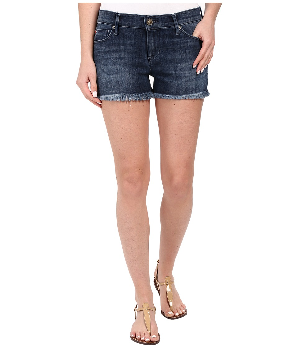 Hudson Amber Raw Edge Hem Shorts in Blue Crest Blue Crest Womens Shorts
