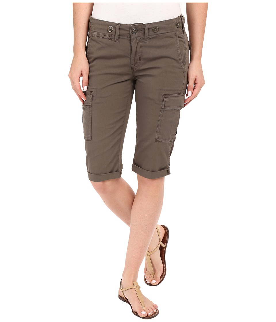 Hudson Charlie Cuffed Cargo Shorts in Brunswick Green Brunswick Green Womens Shorts