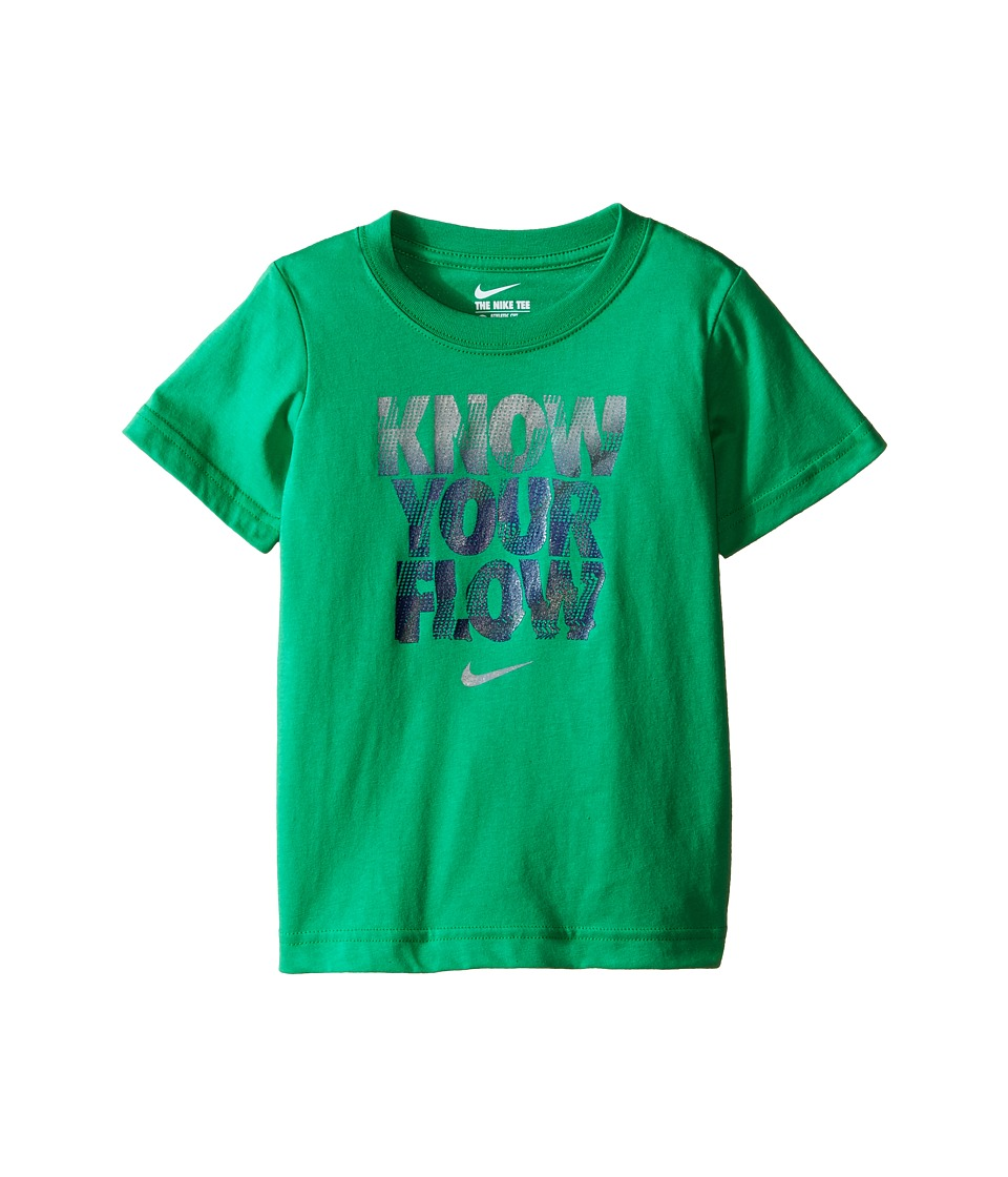Nike Kids Know Your Flow Short Sleeve Tee Toddler Spring Leaf Boys T Shirt