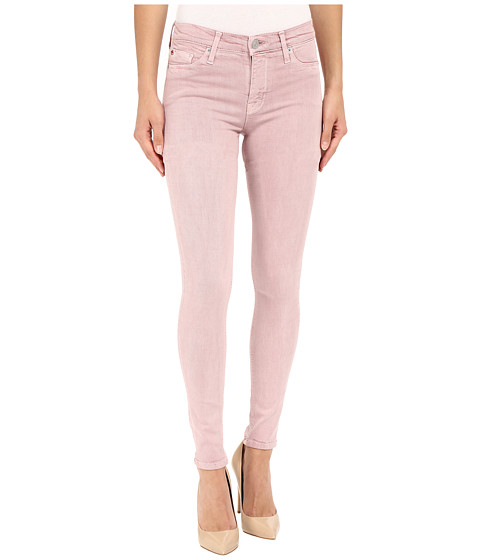 Hudson Nico Mid-Rise Super Skinny in Soft Pink
