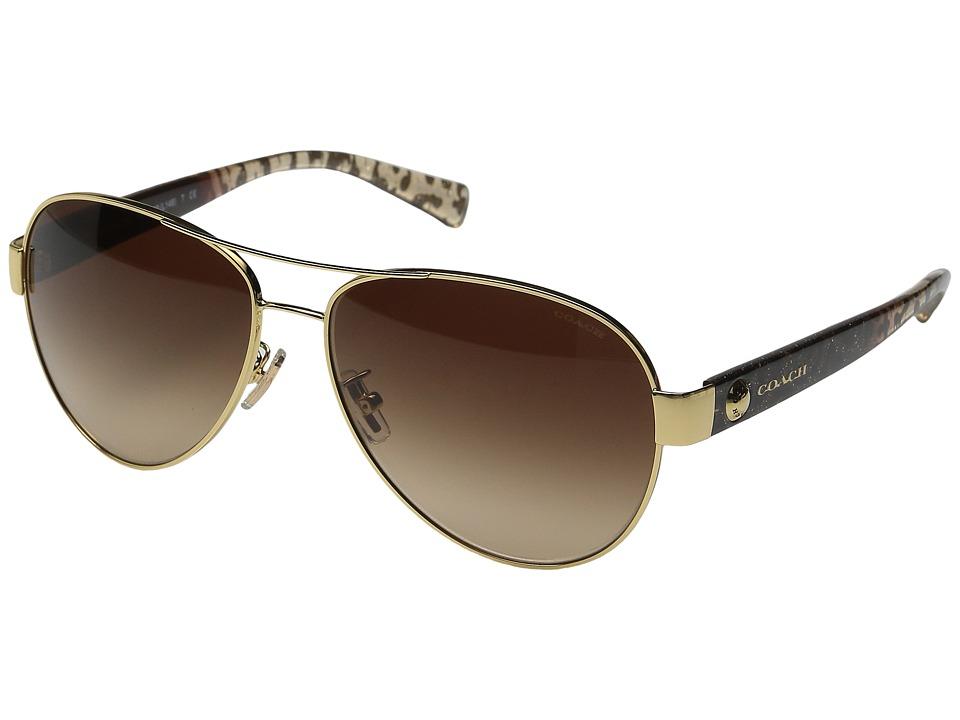 COACH - 0HC7063 (Gold/Wild Beast) Fashion Sunglasses
