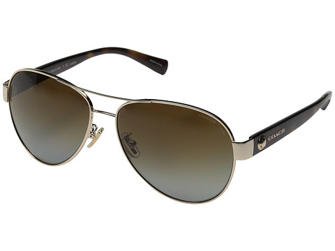 COACH 0HC7063 - Light Gold/Polarized Dark Tortoise