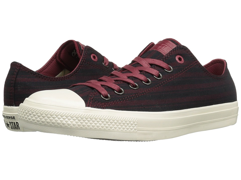 Converse by John Varvatos Chuck Taylor All Star II Ox Textile (Oxblood) Shoes