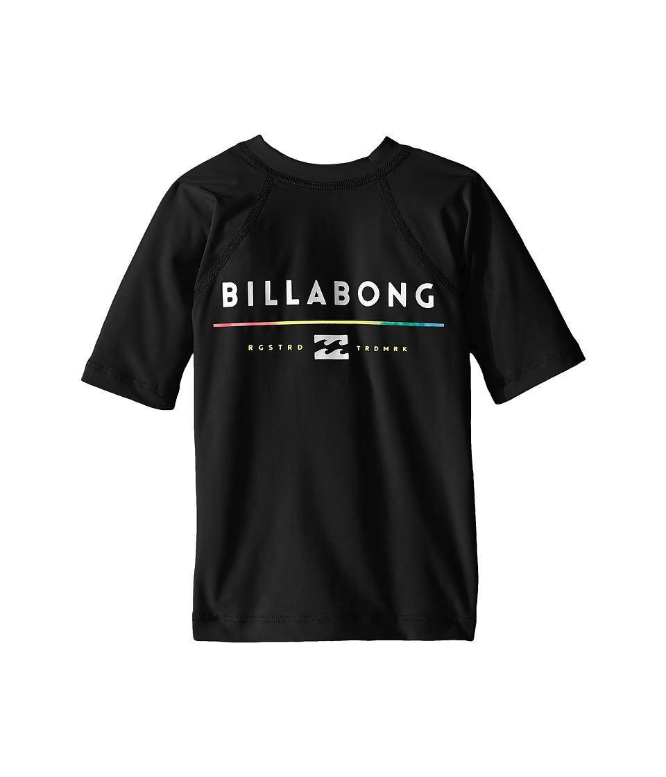Billabong Kids All Day Short Sleeve Rashguard (Toddler/Little Kids/Big Kids) (Black) Boy
