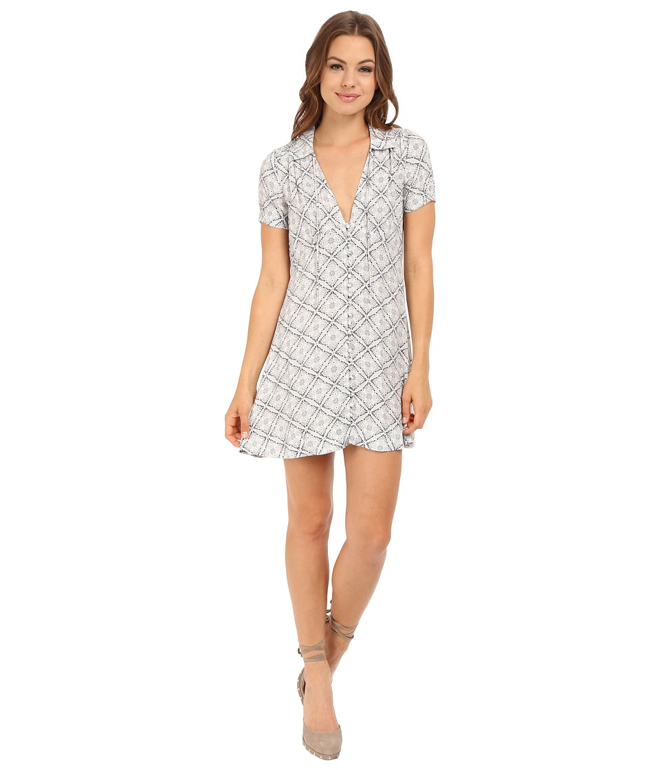 Free People Melody Printed Dress Neutral Combo Womens Dress