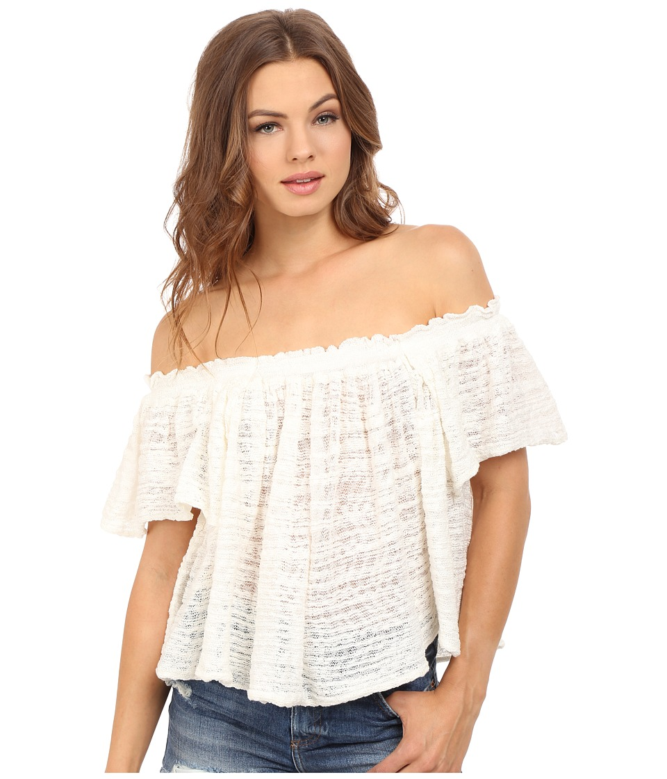 Free People - Thrills and Frills Sweater (Ivory) Women