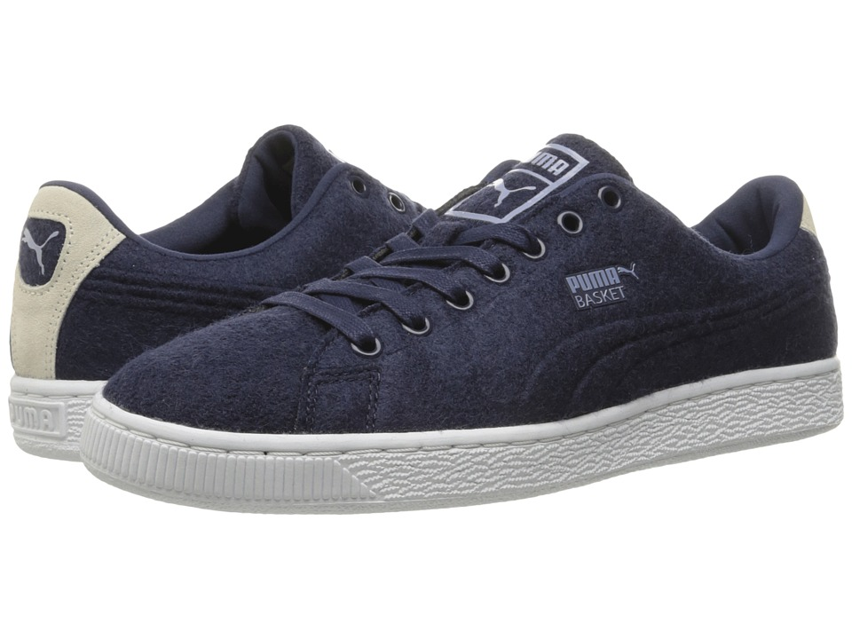 PUMA Basket Classic Embossed Wool (Peacoat/Tempest) Men