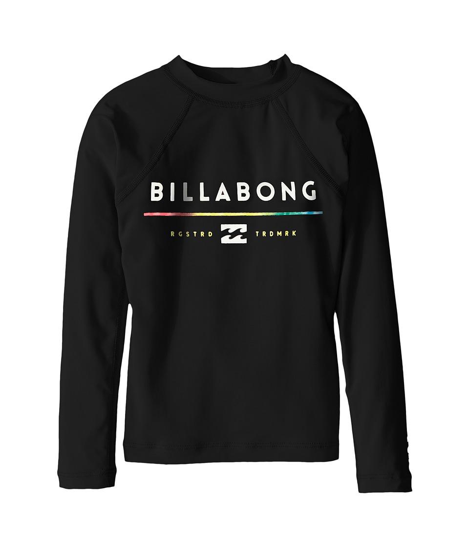 Image of Billabong Kids - All day Long Sleeve Shirt (Toddler/Little Kids/Big Kids) (Black) Boy's Long Sleeve Pullover