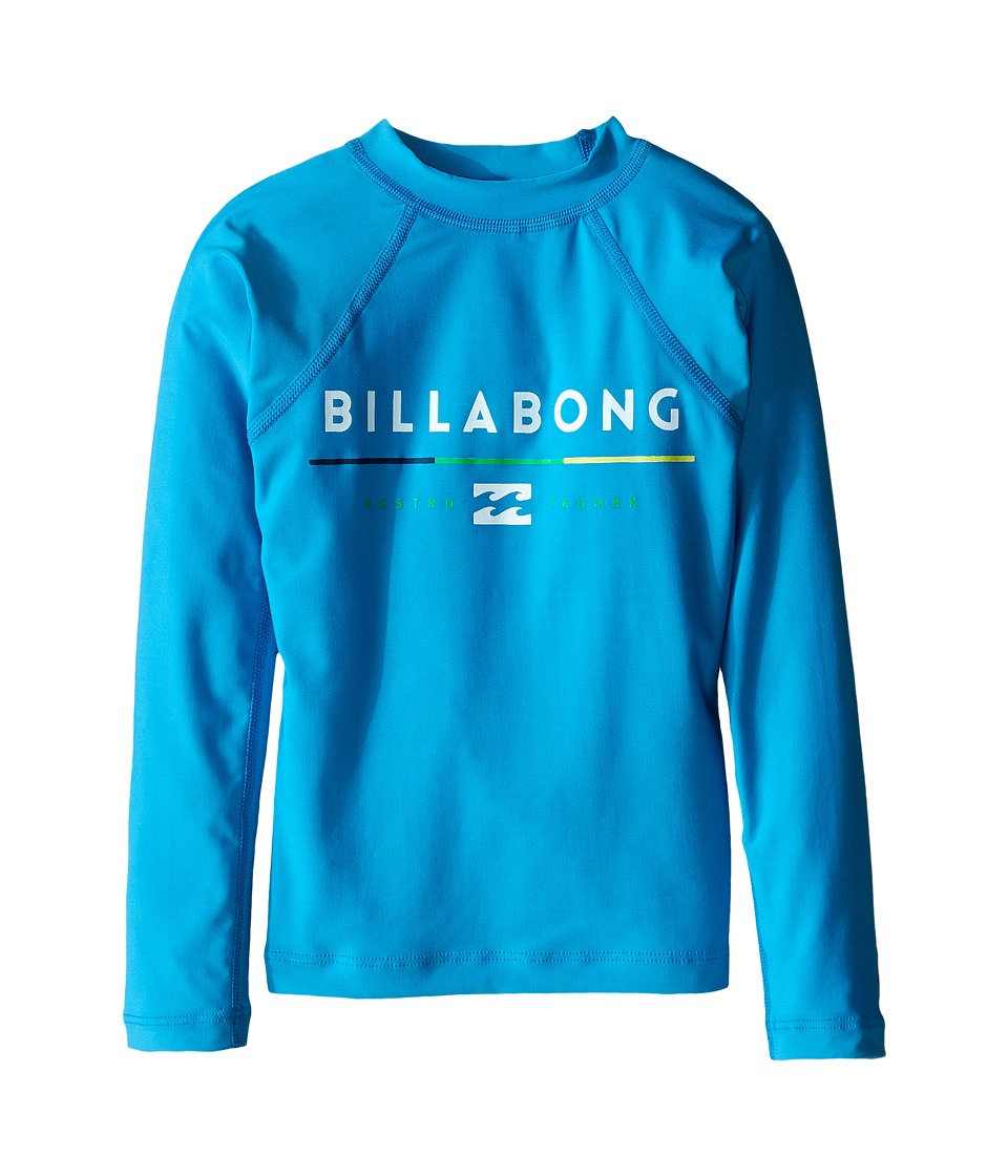 Image of Billabong Kids - All day Long Sleeve Shirt (Toddler/Little Kids/Big Kids) (New Blue) Boy's Long Sleeve Pullover